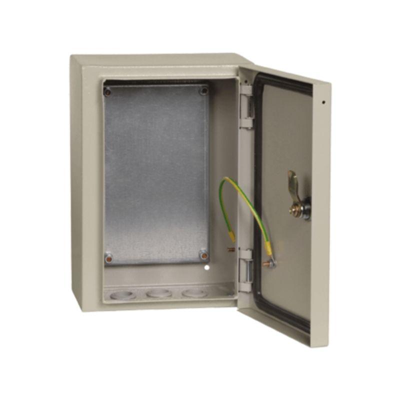 Корпус металлический щмп-231-0 36 ухл3 ip31 с монтажной панелью 180x320 (вхшхг) 250x300x150 иэк